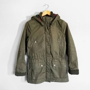 H&M Green Hooded Parka Winter Coat